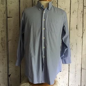 Blue dress casual button down Brooks Brothers
